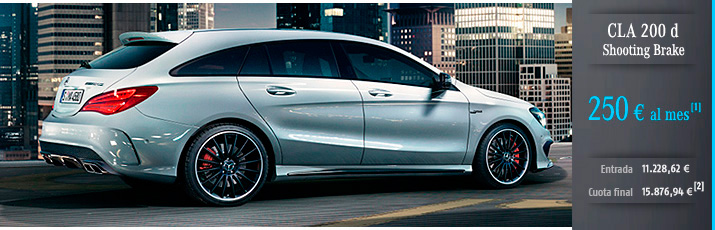 Oferta Mercedes CLA 200d Shooting Brake con Mercedes-Benz Alternative